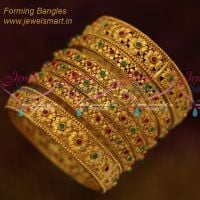 Broad Reddish Gold Colour Bangles Latest Fashion Bangles Collection Online