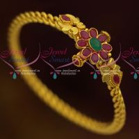 One Gram Temple Jewellery Kemp Kada Real Look Gold Design Collections Online