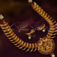 Parrot Design Necklace Temple Jewellery Pendant Latest Fashion Ornaments Online