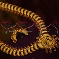Broad Gold Look Peacock Red Green Haram Grand Wedding Jewellery Shop Online