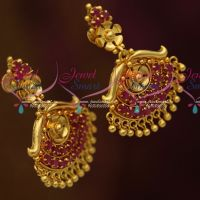South Indian Traditional Screwback Ruby Stones Daily Wear Jewellery Online