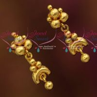 South Indian Jewellery Plain Gold Colour Daily Wear Small Ear Studs Online