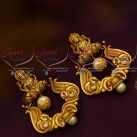 Pearl Temple Matte Finish Big Size Nakshi Work Pearl Drops Handmade Earrings Online