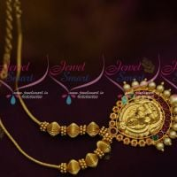 Roll Kodi Chain Temple Pendant Pearl Decoration South Indian Jewellery Online