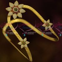 Gold Plated AD Traditional Aravanki Latest Design South Indian Bridal Jewellery Online