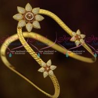 Gold Plated AD Traditional Bajuband Armlet  Latest South Indian Bridal Jewellery Online