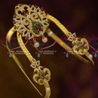 Latest AD Stones Traditional Wedding Jewellery Vanki Multi Colour Matching Accessory Online