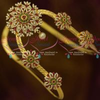 Traditional Vanki Latest AD Stones Round Design Multi Colour Bridal Jewellery Shop Online