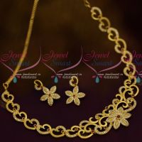 One Gram Gold Forming Matte AD Ruby White Jewellery Fancy Designs Collections Online
