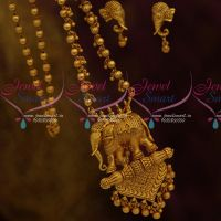 Bahubali Movie Style Royal Beaded Jewellery Elephant Design Fabulous Imitation Antique Collections Online