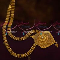 Gold Plated Simple Design Daily Wear Haram South Indian Covering Jewellery Low Price Collections Online