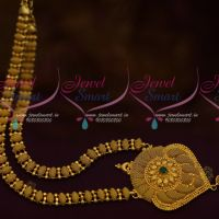 Gold Plated Fancy Design Covering Haram South Indian Imitation Jewellery Shop Online