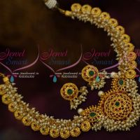 Gutta Pusalu Design Pearl Danglers Traditional Jewellery Set One Gram Imitation Collections Online