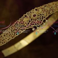 Kemp Ruby White Peacock Vaddanam Kamarpata Belt Online Latest Design Imitation Collections 29 - 40 Inches