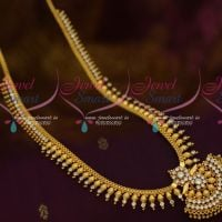 Kerala Style South Indian Jewellery Beads Haram AD White Stone Shop Online