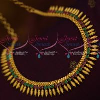South Indian Leaf Design Kerala Style Jewellery Latest Ruby Emerald Collections Shop Online