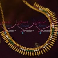 South Indian Leaf Design Kerala Style Jewellery Multi Colour AD Collections Shop Online