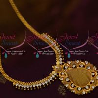 South Indian AD White Stone Jewellery Woven Design Pendant Low Price Collections Online