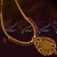 South Indian AD Ruby Stones Jewellery Woven Design Pendant Low Price Collections Online