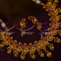 Beautiful Trendy Matte Gold Imitation Jewellery Set Peacock Design Collection Shop Online