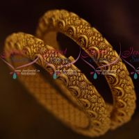 Floral Nakshi Screw Open Matte Antique Bangles Imitation Jewellery Collections Online