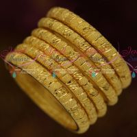 Plain Gold Design Exclusive Bridal Forming 100 Mg 6 Pcs Set Bangles Jewellery Collections Online