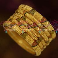 Meenakari Enamel Fancy Cutting Forming 100Mg Plated South Indian Jewellery Shop Online