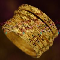 Broad and Thin Combo Exclusive South Indian One Gram Jewellery 6 Pcs Set Shop Online