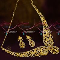 Stylish Trendy Imitation Jewellery Forming Casting AD Ruby White Latest Collections Online