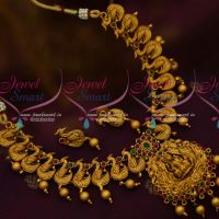 Temple Jewellery Antique Imitation Red Green Stones Handmade Matte Collections Online