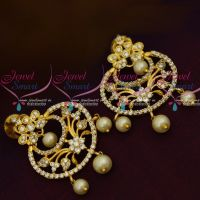 AD White Stones Fancy Ear Studs Latest Womens Fashion Jewellery Online