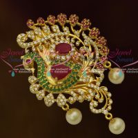 American Diamond Ruby Emerald Saree Pins Womens Jewellery Accessory Matching Collections Online