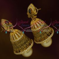 Black White Antique Jewellery Matte Gold Plated Stones Low Price Jhumka Earrings Shop Online