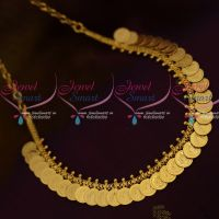 Simple Low Price Coin Necklace Kasumala Traditional South Indian Temple Jewellery Imitation Collections