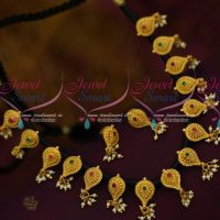 Thread Necklace Black Dhaga Imitation Jewellery Latest Design Collections Screwback Earrings