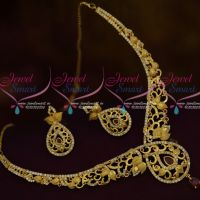 AD Ruby White Stylish Trendy Imitation Jewellery Forming Casting Latest Collections Online