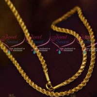 30 Inches Saradu Kayiru Twisted Chain Cutting Daily Wear Stiff Design Imitation Jewellery Shop Online