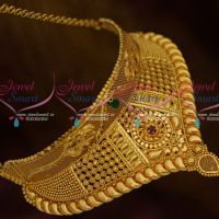 South Indian Imitation Jewellery Casting Fixed Shape Choker Necklace Latest Collections Online
