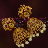 Kemp Uncut Finish Multi Stones Matte Jewellery Jhumka Earrings Fashion Jewellery Online