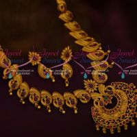 Latest Trendy Matte Gold Imitation Jewellery Set Peacock Design Collection Shop Online