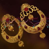 Gheru Reddish Gold Plated Chand Bali Surya Design Big Earrings Shop Online