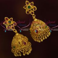 South Indian Jhumka Earrings Screwback Floral Design Collections Online