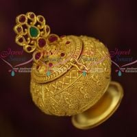 Kunguma Chimil Sindoor Kum Kum Box Gold Plated Intricate Design Auspicious South Indian Traditional