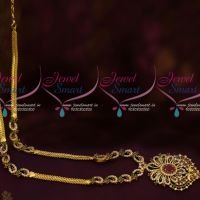South Indian Fashion Jewellery AD Mango Haram Multi Colour Stones Handmade Collections