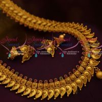 Antique Matte Mango Mala Latest Traditional Haram South Indian Designs Shop Online