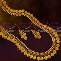 Coin Necklace Haram Kasulaperu Latest Matte Gold Laxmi God Engraved Collections Shop Online