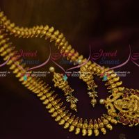 Temple Traditional Mango Long Chain Gold Look One Gram South Jewellery Design Long Necklace Online