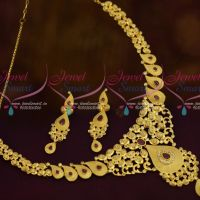 AD Ruby White Fashion Jewellery Light Gold Matte Casting Design Forming Plated Jewellery Online
