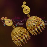 Mango Design Trendy Jhumka Gold Finish Light Matte Forming Jewellery Latest Collections Online