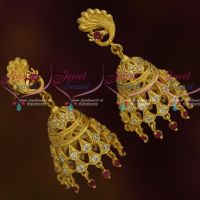 Peacock Stylish Light Matte Forming Jhumka Earrings Latest Fashion Jewellery Online